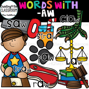 Words with -aw  {Word Family Clip Art}