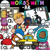 Words with -ab  {Word Family Clip Art}