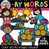 Words with -ay {Phonics Clipart}