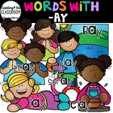 Words with -ay  {Word Family Clip Art}