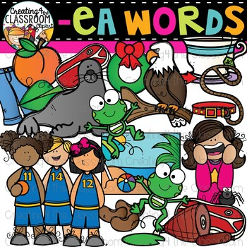 Words with -ea {Phonics Clipart}