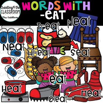 Words with -eat  {Word Family Clip Art}
