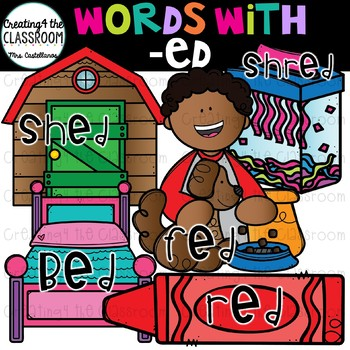 Words with -ed  {Word Family Clip Art}