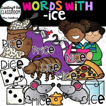 Words with -ice  {Word Family Clip Art}