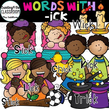 Words with -ick  {Word Family Clip Art}