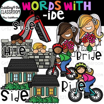 Words with -ide  {Word Family Clip Art}