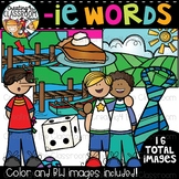Words with -ie {Phonics Clipart}