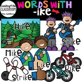 Words with -ike  {Word Family Clip Art}