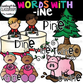 Words with -ine  {Word Family Clip Art}
