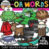 Words with -oa {Phonics Clipart}