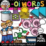 Words with -oi {Phonics Clipart}
