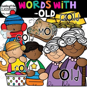 Words with -old  {Word Family Clip Art}