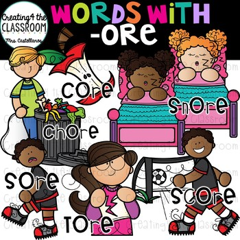Words with -ore  {Word Family Clip Art}