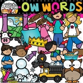 Words with -ow {Phonics Clipart}