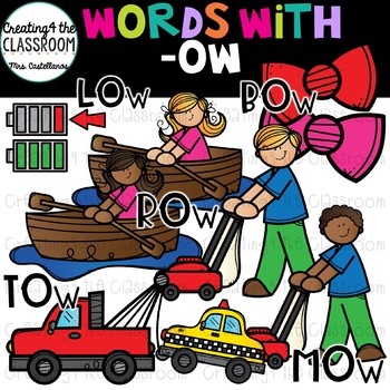 Words with -ow  {Word Family Clip Art}