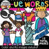 Words with -ue {Phonics Clipart}