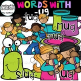 Words with -ug  {Word Family Clip Art}