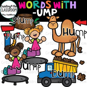 Words with -ump  {Word Family Clip Art}