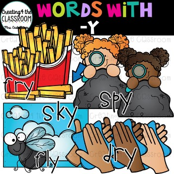 Words with -y  {Word Family Clip Art}