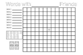 Words with your Friends Game Chart