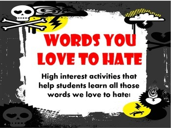 Words you love to hate: Helping kids use yucky words corrently
