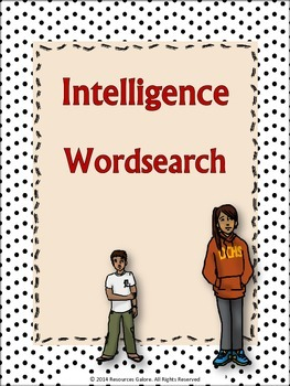 Wordsearch Activity on Intelligence