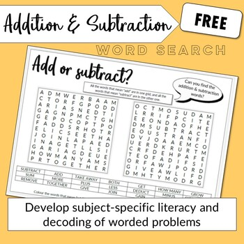 Wordsearch - Add or Subtract?