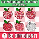 Wordsearch Alphabet Clipart Apple Bundle Fall September