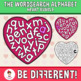 Wordsearch Alphabet Clipart Heart Bundle