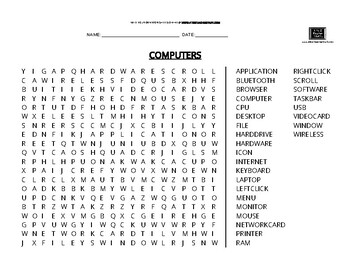 Wordsearch: Computers