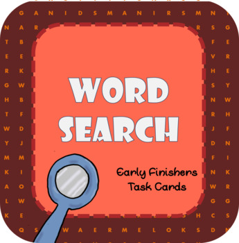 Wordsearch - Early Finishers Task Cards
