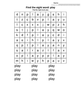 Wordsearch Play