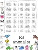 Wordsearch-animals in spanish