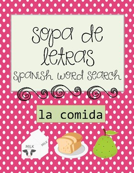 Wordsearch-food in spanish