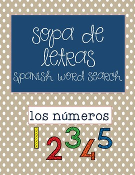 Wordsearch-numbers in spanish