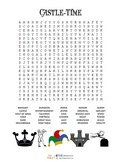 Wordsearch puzzles x 5 for London, Castles, Knights, Vikin