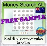 Money search using AU coins (BOOM CARD digital learning -