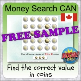 Money search using CAN coins (BOOM CARD digital learning -