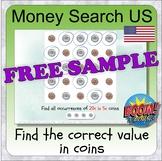 Money using USA coins (BOOM CARD digital learning - money)