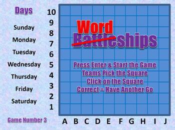 Wordships - Days