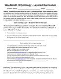 Wordsmith / Etymology Layered Curriculum