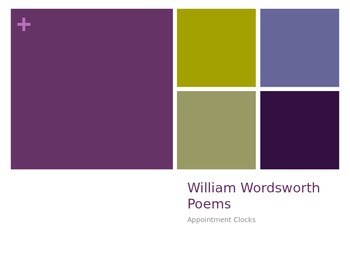 """Wordsworth Poem """"Appointment Sessions"""""""