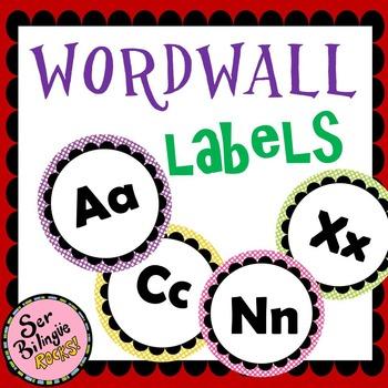 Wordwall letter labels 1