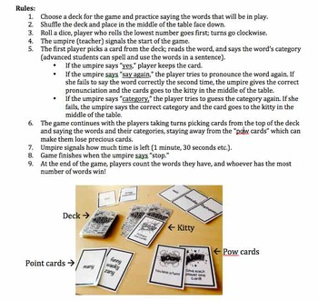 Wordy (Vocabulary Building Card Game)