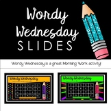 Wordy Wednesday- Set 1