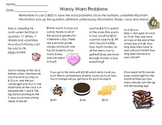 Wordy Word Problems