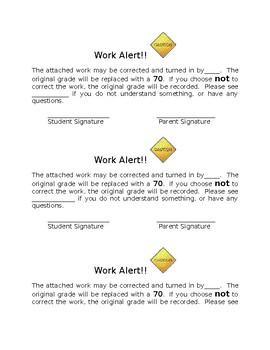 Work Alert