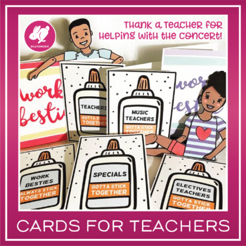 Specials & Teacher Greeting/Thank You Cards - Printable
