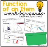 Work Bin Task Cards - Function of an Item (30 cards with 3