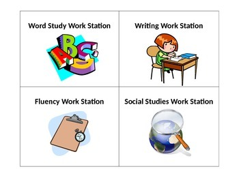 Work Board Icons for K-2